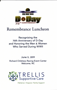 75th D-Day Remembrance Luncheon